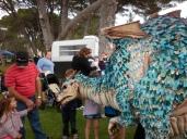 Performing in Erth's dragon in Fremantle