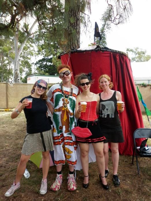 Glitter militia umbrella harvest festival