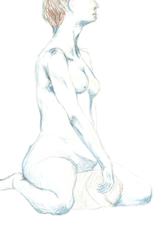 blue nude sketch