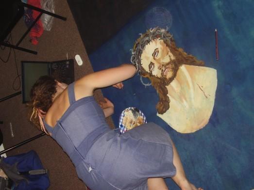 painting jesus board