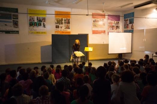 Puppetry presentation at Dili International School, Timor Leste