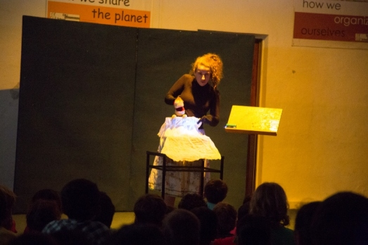Puppetry performance at Dili International School, Timor Leste