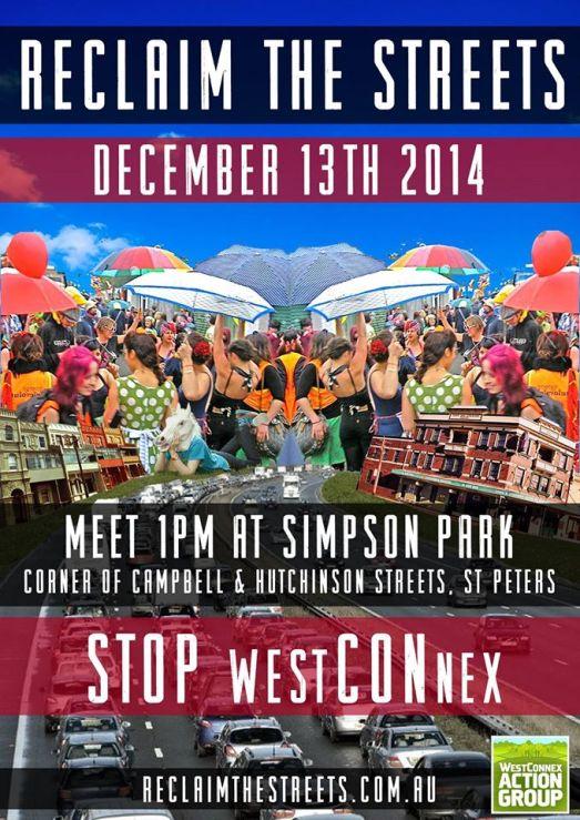 reclaim the streets westconnex